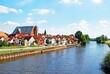An der Aller in Verden/Aller. Dom mit Andreaskirche und Fischerviertel von Sübrücke aus gesehen