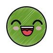 smiley cartoon childish vector icon illustration graphic design