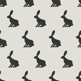 seamless rabbit pattern - 157377342