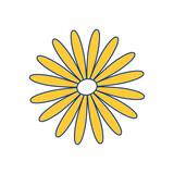 flower cute nature vector icon illustration graphic design