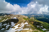 Detail of mountain landscape. Beautiful spring view at Grossglockner High Alpine.