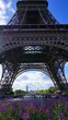 Photo of Eiffel Tower on a spring cloudy morning, Paris, France
