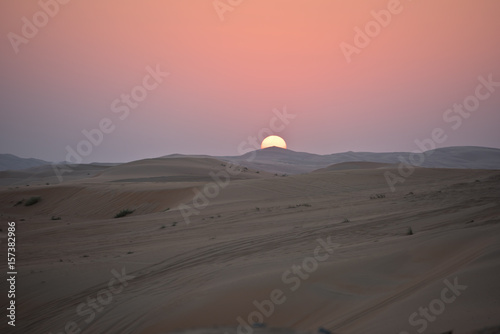 Foto op Canvas Lavendel Desert dunes in Liwa, United Arab Emirates
