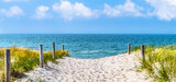 strandzugang zur Ostsee, Düne, blauer himmel,  panorama - 157384539
