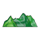 green mountain natural landscape image vector ilustration