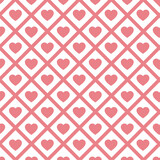 seamless pattern. modern stylish texture. repeating heart ornament vector illustration