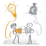 Geschäftsidee und Investor - 157401382