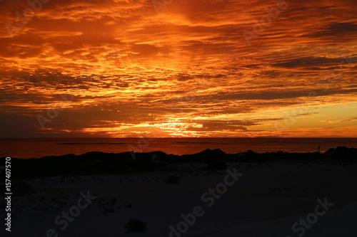 In de dag Oranje eclat 夕日 Sunset.