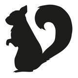 squirrel vector silhouette illustration
