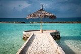 The end of the pier, Ellaidhoo island, Maldives - 157409352