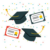 student graduate flat icon vector illustration design graphic - 157414517