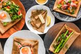 そば粉のクレープ ガレット  galette French food - 157421758