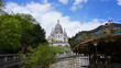 Photo of iconic Sacre Coeur Basilica in Montmartre, Paris, France