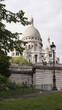 Photo of iconic Sacre Coeur Basilica in Montmartre, Paris, France