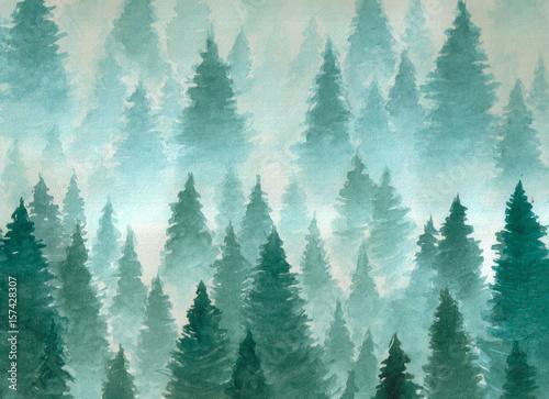 dekoracyjny-las-we-mgle