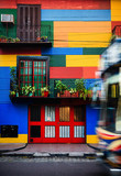 Colorful house in La Boca neighborhood in Buenos Aires