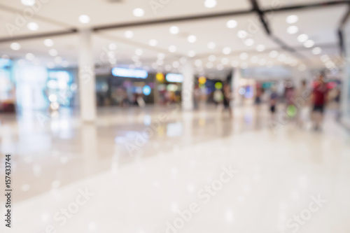 Abstract blur defocused shopping mall interior background