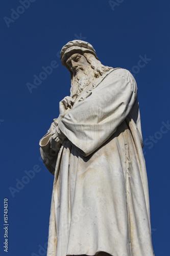 Leonardo da Vinci monument in Milan Poster