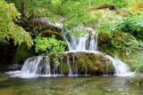 Picturesque waterfall in Rastoke, the hidden jevel of Croatia near the Plitvice park