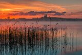 Sunrise, Masurian Lake District, Camaldolese Monastery, Lake Wigry