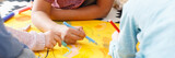 Kids drawing picture...