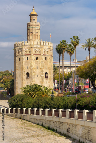 Tower of Gold in Seville, Andalusia, Spain