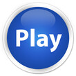 Play premium blue round button