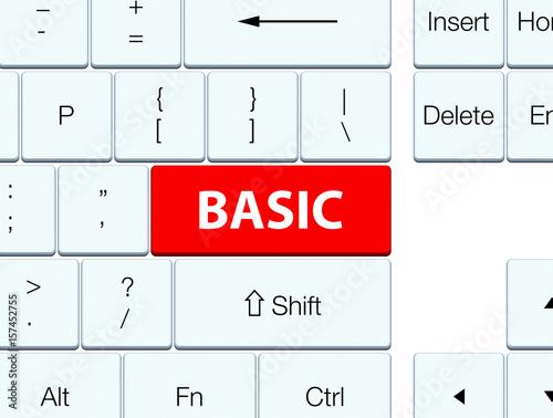 Plakat Basic red keyboard button