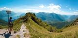 Fototapety Vista del lago di Como e del lago di Lugano dal pizzo Coppa  - Menaggio - Italy