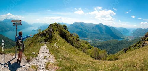 Vista del lago di Como e del lago di Lugano dal pizzo Coppa - Menaggio - Italy © Franco Bissoni