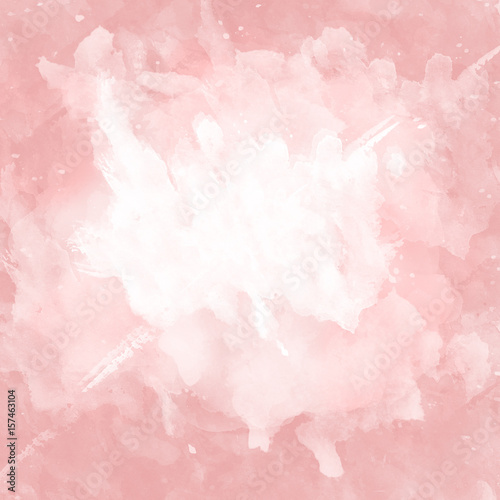 Pink and white watercolor background. - 157463104