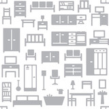 Vector furniture seamless pattern background 1 - 157467775