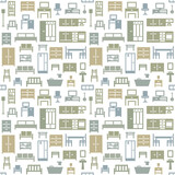 Vector furniture seamless pattern background 2 - 157467788