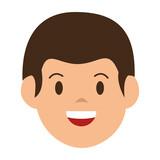 little boy avatar character vector illustration design