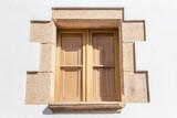 cadre de fenêtre et crépi de façade