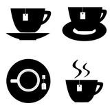 tea cups icon set