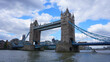 Photo of tower bridge on a cloudy spring morning, London, United Kingdom
