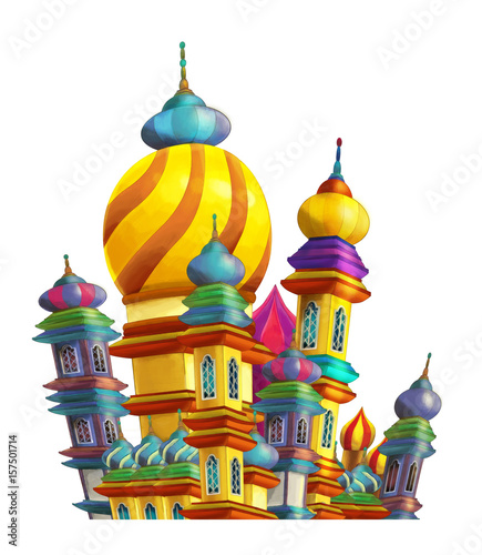cartoon castle on white background - for different usage - 157501714