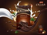 hazelnut chocolate ad - 157503740
