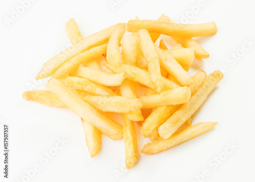 Poster french fries isolated