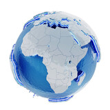 Globe with white map of the world