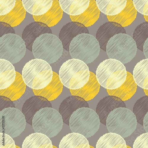 Fototapeta Polka dot seamless pattern. Vector illustration. Retro motif.