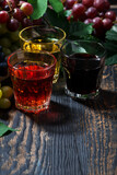 assortment of grape juice, vertical