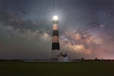 Milky Way Galaxy Rising Behind Bodie Island Lighthouse