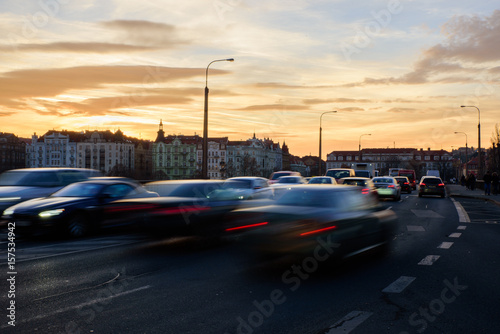 Plakat Traffic on the road