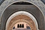 Detail from Alhambra, arabian Doos, Granada, Spain