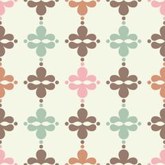 Seamless vector geometric Victorian pattern. Vector illustration.