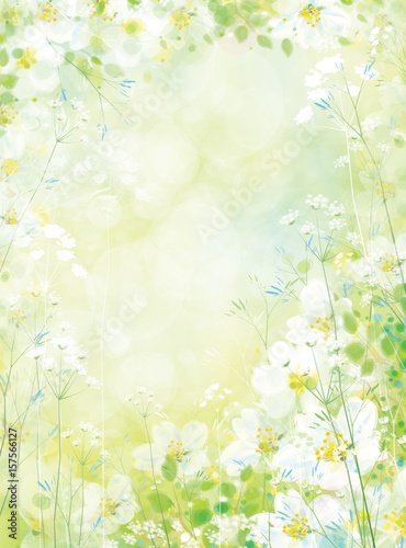 Wall mural Vector spring floral background.