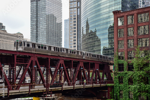 Poster Chicago Urban city landscape scene
