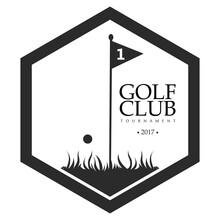 Golf Emblem Sticker
